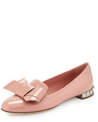 Jewel heel patent bow flat medium 3729413