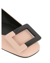 Roger Vivier 10mm U Look Leather Two Tone Flats