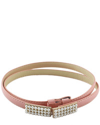 Fashion Style Mixed Color Adjustable Pu Leather Belt