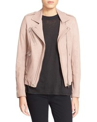IRO Han Lambskin Leather Moto Jacket