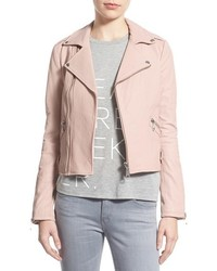 Rebecca Minkoff Pebble Leather Jacket Size X Small Pink