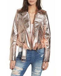 True Religion True Religion Brand Jeans Metallic Leather Moto Jacket