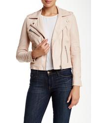 Doma Waxy Genuine Lambskin Leather Biker Jacket