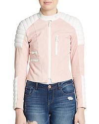 Acne studios minda colorblock leather jacket medium 515126