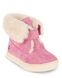 Ralph Lauren Babys Toddlers Faux Fur Trim Booties