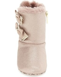 MICHAEL Michael Kors Infant Girls Michl Michl Kors Baby Joan Sparkly Faux Fur Bootie