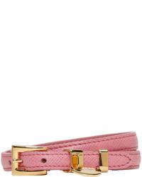 Prada Pink Double Wrap Bracelet