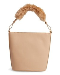 Leith Faux Fur Handle Medium Crossbody Bag