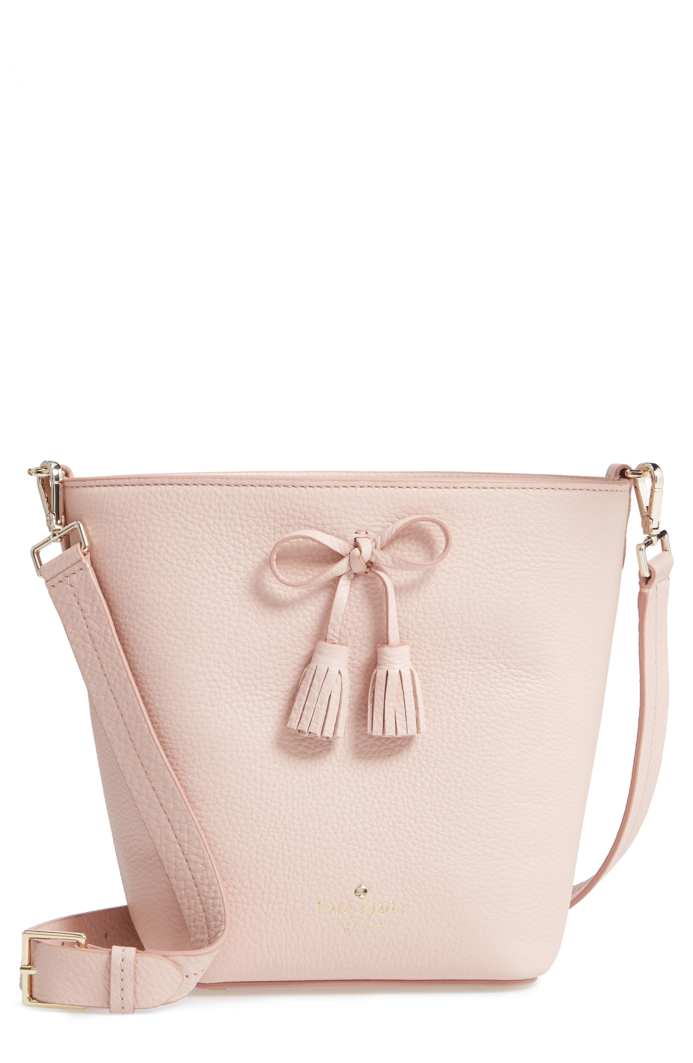 115a8afd4 ... Nordstrom › kate spade new york › Pink Leather Bucket Bags kate spade  new york Hayes Street Vanessa Leather Shoulder Bag