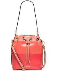 MICHAEL Michael Kors Michl Michl Kors Dottie Degrade Leather Large Bucket Bag Peachgrapefruit