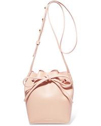 Mini mini leather bucket bag pastel pink medium 3700570