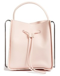 Mini soleil leather bucket bag pink medium 1044244