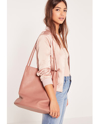 Missguided Circular Minimal Bucket Bag Pink