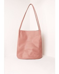 Missguided Pink Minimal Bucket Bag