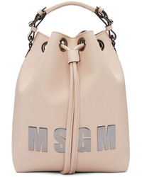 MSGM Pink Logo Bucket Bag