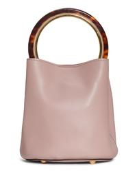 Marni Ring Handle Leather Bucket Bag