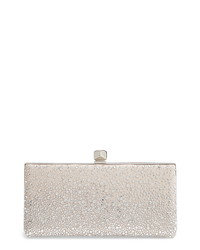 Jimmy Choo Celeste Sprinkled Crystal Mesh Frame Clutch