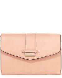 Neiman Marcus Cheyenne Envelope Clutch Bag Blush