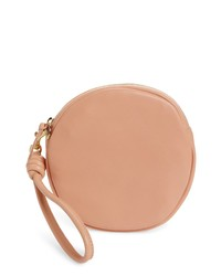 Clare V. Lambskin Leather Circle Clutch