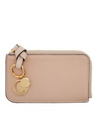 Chloé Pink Alphabet Zip Card Holder
