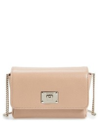 Ruby grainy leather clutch pink medium 730753