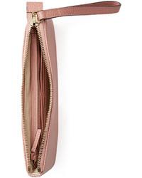 23ff56053e9 ... Gucci Swing Leather Wristlet Light Pink