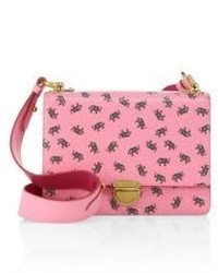 Prada Elephant Saffiano Leather Crossbody Bag