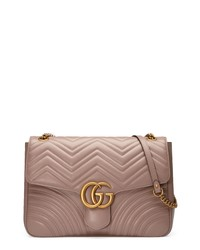 Gucci Gg Large Marmont 20 Matelasse Leather Shoulder Bag