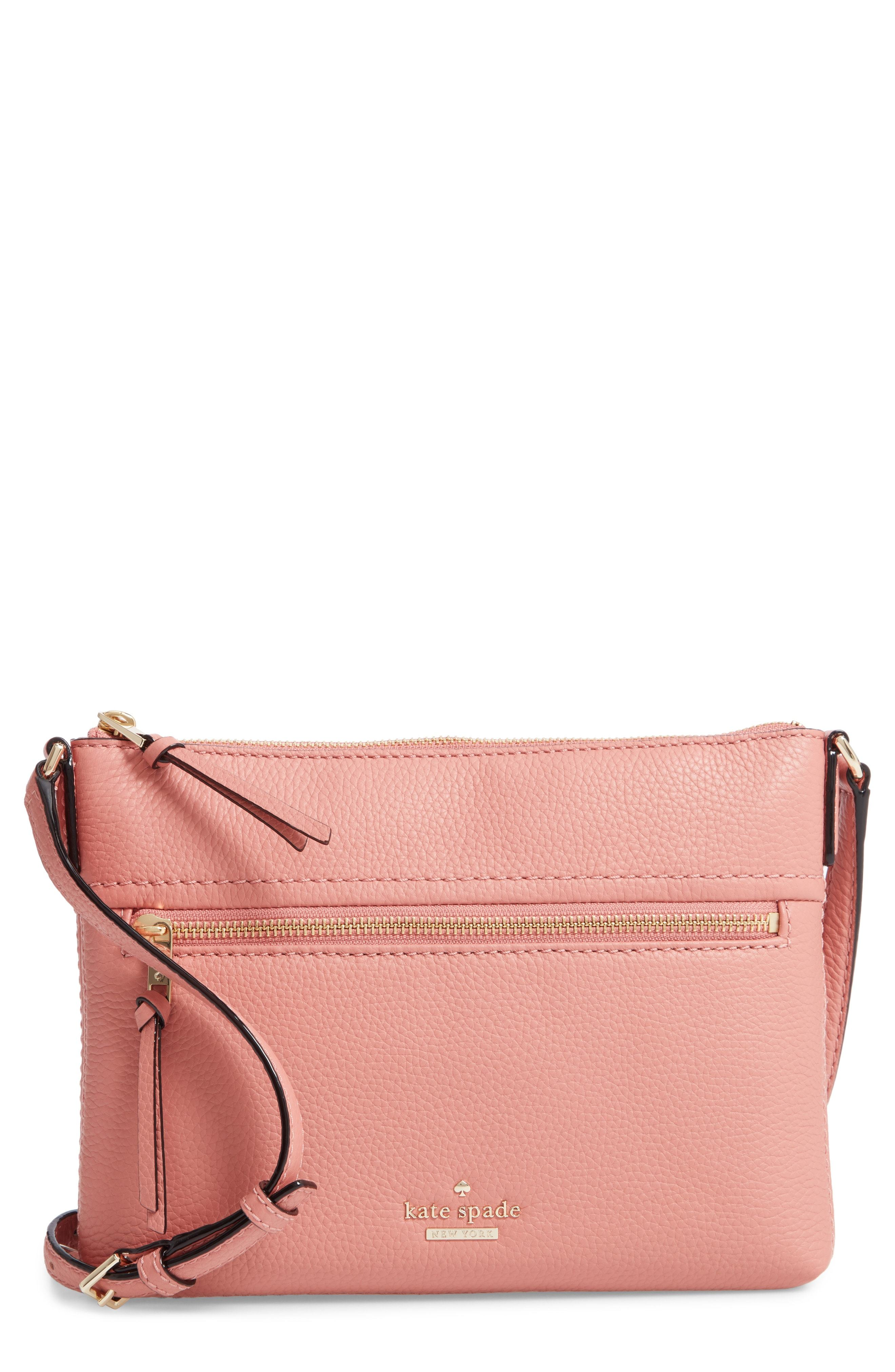 762589b20 ... Nordstrom › kate spade new york › Pink Leather Crossbody Bags kate spade  new york Jackson Street Gabriele Leather Crossbody Bag