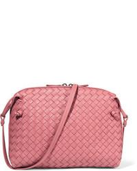 Bottega Veneta Messenger Small Intrecciato Leather Shoulder Bag Antique Rose