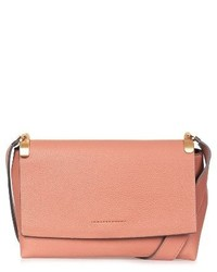 Topshop Olney Faux Leather Crossbody Beige