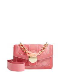 Knotty Ombre Faux Leather K Handle Crossbody Bag