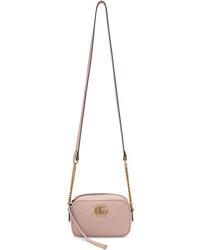 Gucci Pink Mini Gg Marmont 20 Camera Bag