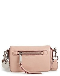 Marc Jacobs Recruit Leather Crossbody Bag Grey