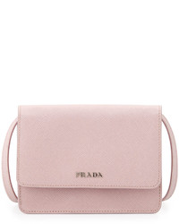 Prada Saffiano Lux Crossbody Bag Light Pink
