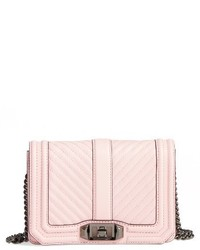Rebecca Minkoff Small Love Leather Crossbody Bag Pink