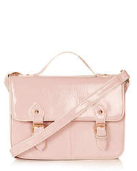 Topshop Vinyl Edge Paint Satchel