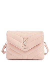 Toy loulou calfskin leather crossbody bag pink medium 3943947