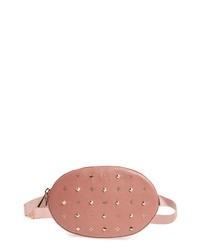 MICHAEL Michael Kors Studded Logo Leather Belt Bag