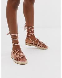 ASOS DESIGN Jester Knotted Espadrille Sandals
