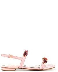 Moschino Gemstone Flat Sandals