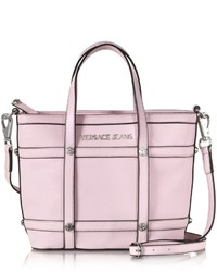 Versace Jeans Small Light Pink Eco Leather Tote