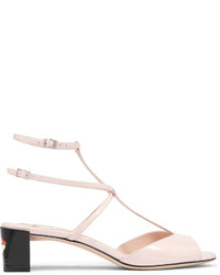 Fendi Patent Leather Sandals Pastel Pink