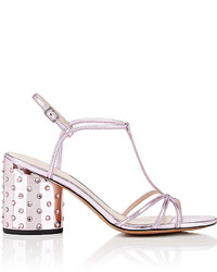 Marc Jacobs Sheena Metallic Leather T Strap Sandals