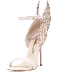 Sophia Webster Evangeline Angel Wing Sandal Pink Glitter
