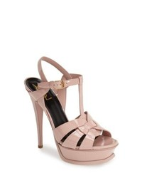 Saint Laurent Tribute T Strap Platform Sandal