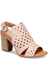 Børn Born Havana Geometric Cutout Leather Slingback Block Heel Sandals