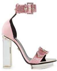 Versace Transparent Heel Sandals