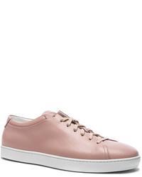 John Elliott Leather Low Tops In Pink