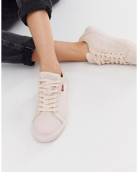 Levi's Lace Up Leather Look Trainer